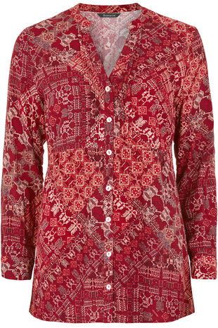 Printed Bib Detail Tunic