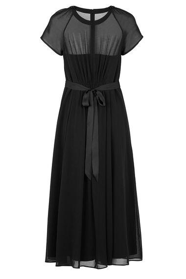 David Emanuel Signature Embellished Neck Maxi Dress