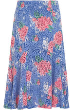 Floral Burnout Skirt