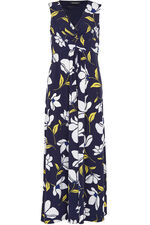Printed Twist Maxi Dress