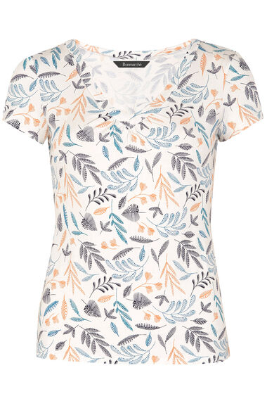 Printed V-Neck Jersey Top
