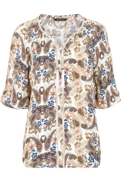 Printed Gypsy Blouse