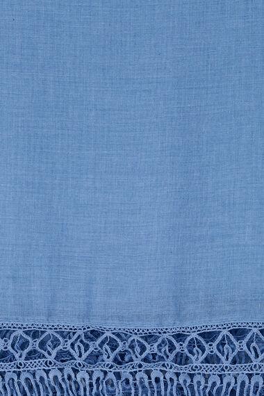 Crochet Lace Trim Scarf