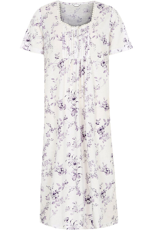 Large Blue Floral Nightdress