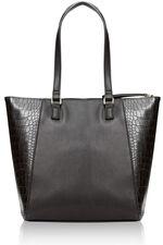 Crocodile Trimmed Shoulder Bag