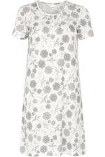 Grey Monotone Floral Nightshirt
