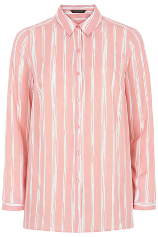 Stripe Printed Long Sleeve Shirt
