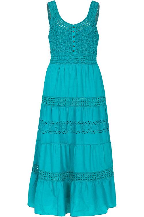 Tiered Cotton Maxi Dress
