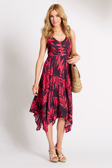 Printed Hanky Hem Dress