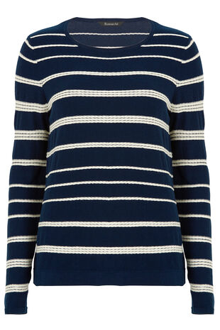 Rope Stripe Detail Sweater
