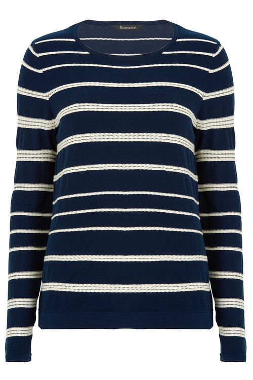 Rope Style Stripe Jumper