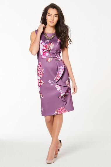 Ruffle Front Scuba Dress