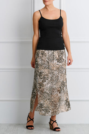 Printed Animal Chiffon Skirt