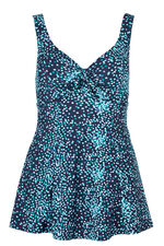 Square Print Bow Swim dress