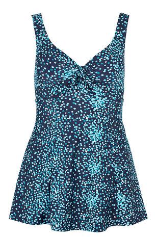 Square Print Bow Swim dress