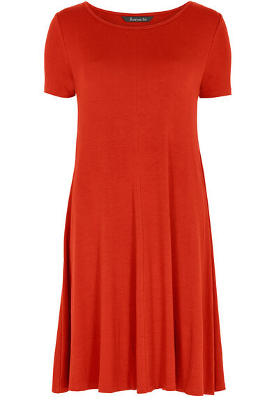 Burnt Orange Swing Dress