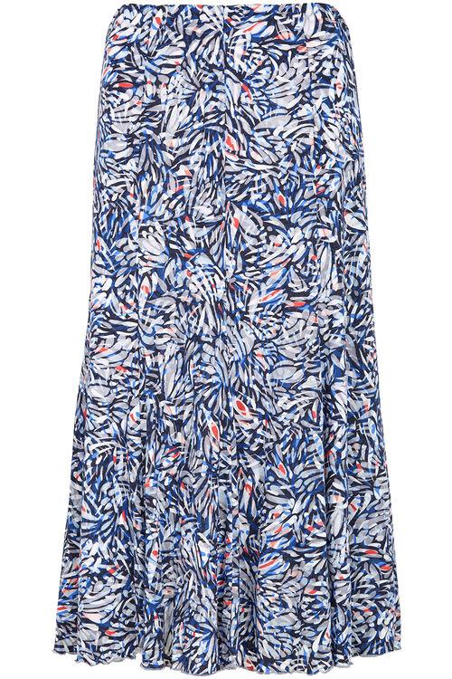 Printed Burnout Skirt