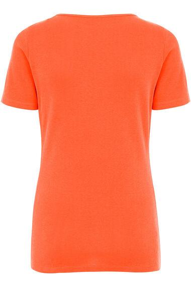 Short Sleeve Boat Neck T-Shirt
