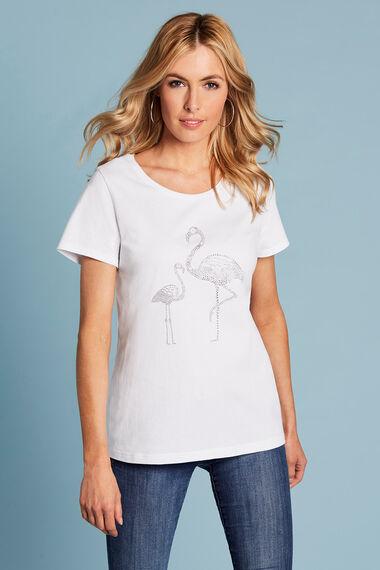 Diamante Flamingo T-Shirt
