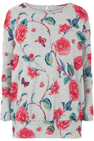 Stella Morgan Soft Touch Floral & Butterfly Printed Sweater
