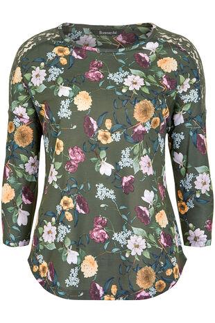 Winter Floral Lace T-Shirt
