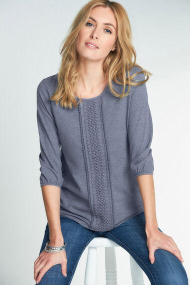 Lace Trim Cotton Jersey Top