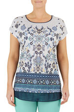 Gem Beaded Embroidered T-Shirt