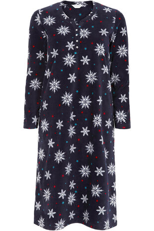 Fleece Snowflake Nightdress