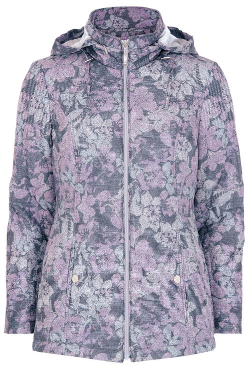 Floral Print Padded Coat