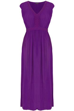 Crinkle Fabric Maxi Dress