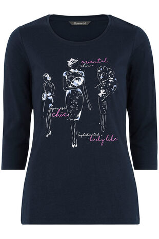 Geisha Girl Print T-Shirt