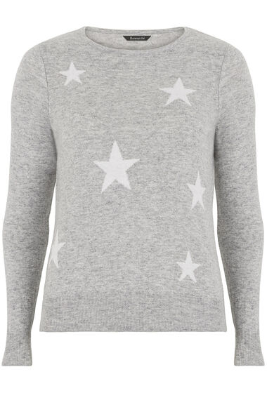 Star Intarsia Knit Sweater