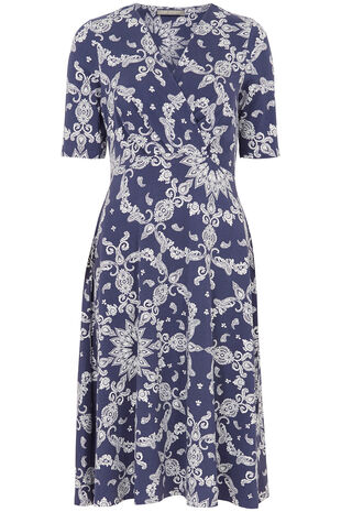 Ann Harvey Printed Wrap Dress