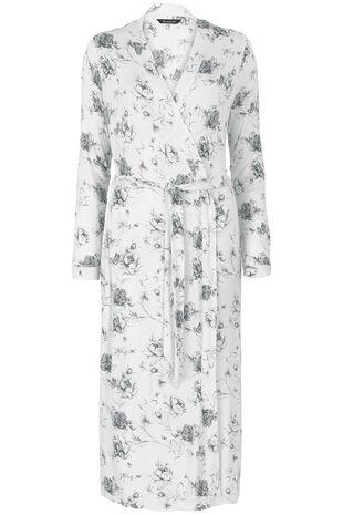 Grey Rose  Kimono Wrap