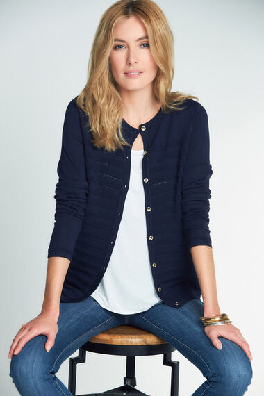 Ripple Pointelle Cardigan