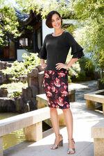 Floral Scuba Skirt