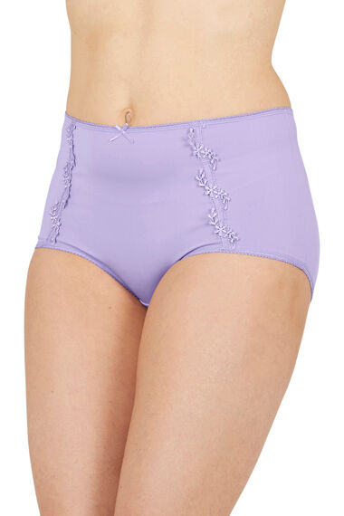 Guipure Lace Trim Full Briefs