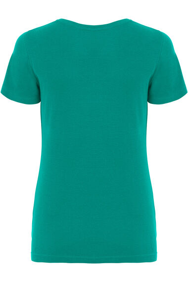 Cotton Notch Neck T-Shirt