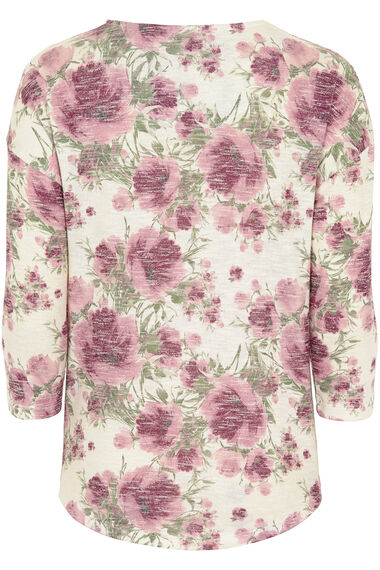 Floral Printed Knitted Top