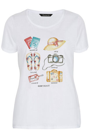 Holiday Checklist Print T-Shirt