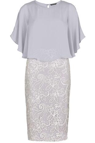 David Emanuel Signature Lace Cape Dress