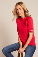 Cotton Stitch Trim Jumper