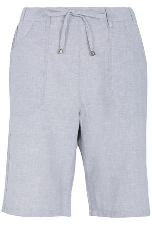 Cross Dye Linen Blend Shorts