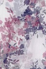 Stripe Blossom Chiffon Scarf