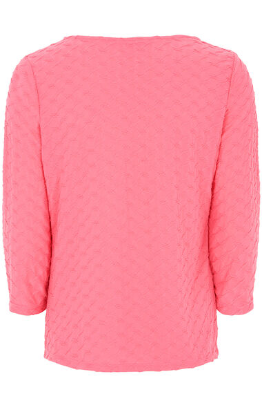 Textured Jersey 3/4 Sleeve Top