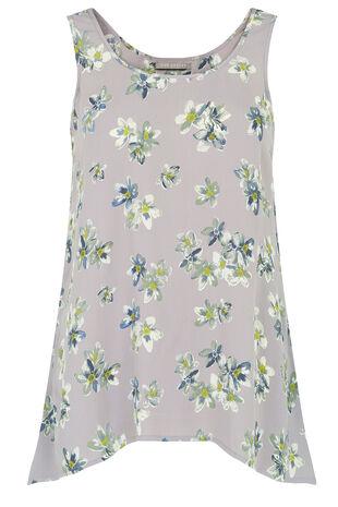 Ann Harvey Blossom Print Shell Top
