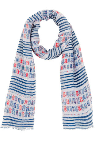 Beach Hut Print Scarf