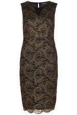 Sleeveless Lace Shift Dress