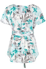 David Emanuel Short Sleeve Printed Kimono Tunic