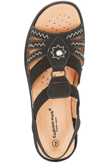 Cushion Walk Elasticated Embroidered Sandal